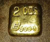 Sztabka złota 2 uncje